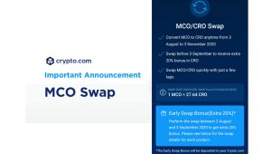 Crypto.com Ditch MCO Token and Offer +20% incentive CRO Swap