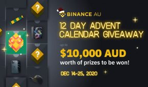 Binance Australia: 12 Day Advent Calendar – Up to $10,000 AUD worth of prizes to be won!