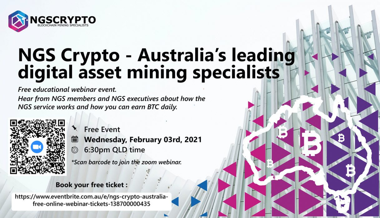 Australia's NGS Crypto Live Webinar – Learn About Bitcoin Investing