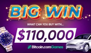 Big Winner Cashes Out $110,000 on Bitcoin.com Games