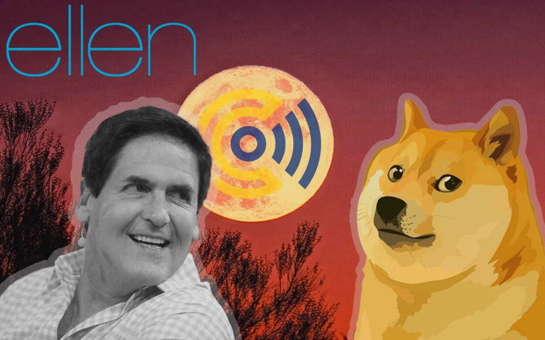 Mark Cuban talks about Dogecoin on the Ellen Show, with 2.6 Million Viewers