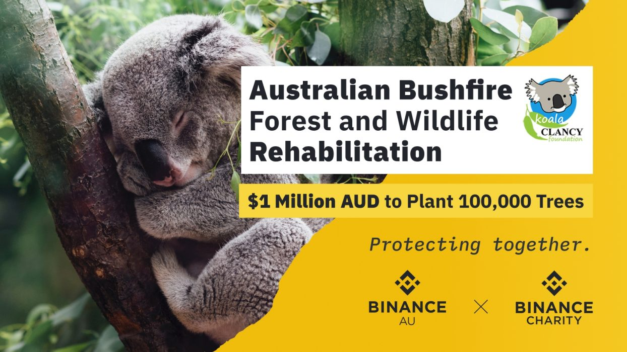 Binance Charity launches Tree Tokens to plant 100,000 trees to restore wildlife habitats in Australia