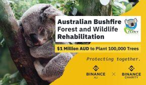 Binance Charity launches Tree Tokens to plant 100,000 trees to restore wildlife habitats in Australia