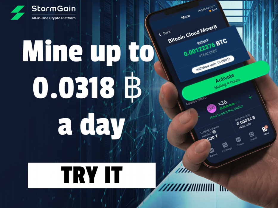 StormGain Levels the Crypto Mining Playing Field by Catering to Billions of Smartphone Users