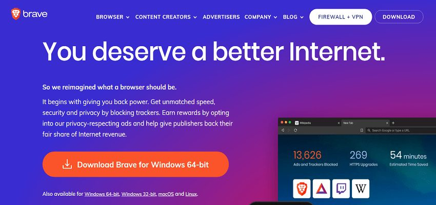 Crypto enabled Brave Browser