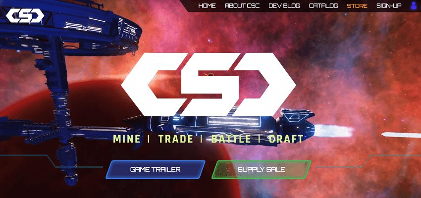 CSC Space MMO blockchain-based game