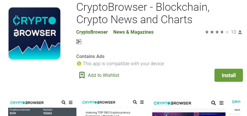 Crypto enabled Browser App