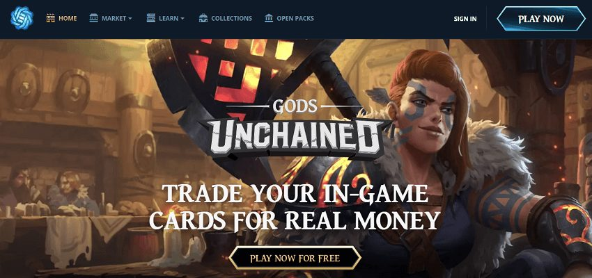 Gods unchained blockchain-based game