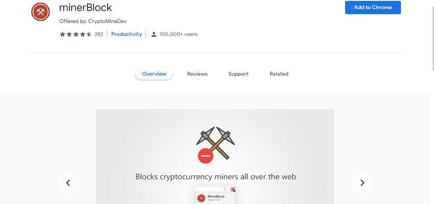 MinderBlock secutiry browser extension