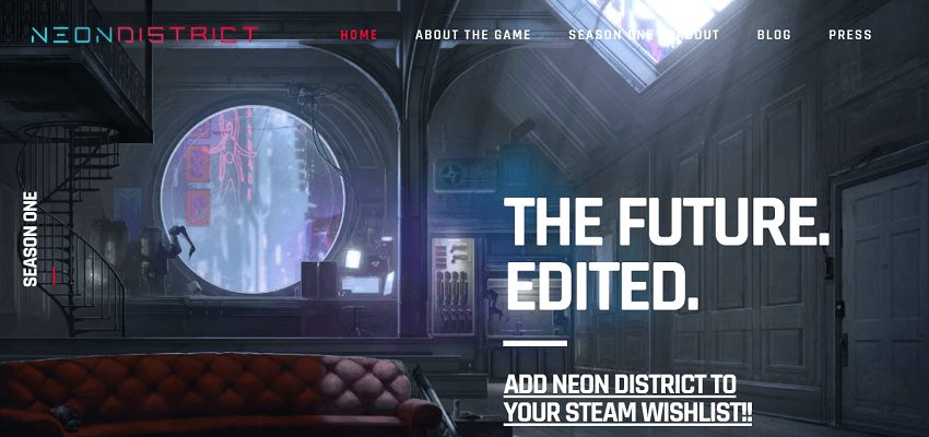 Neon District blockchain-based game