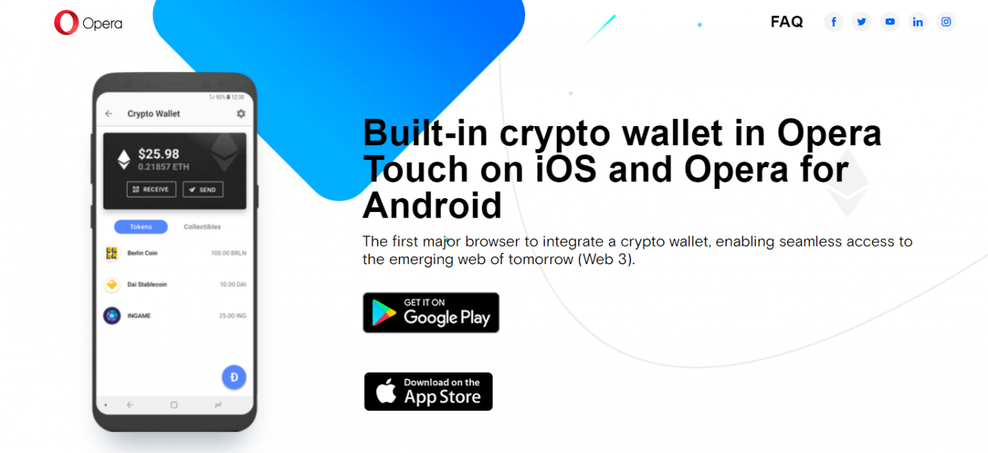 Crypto enabled Opera Browser