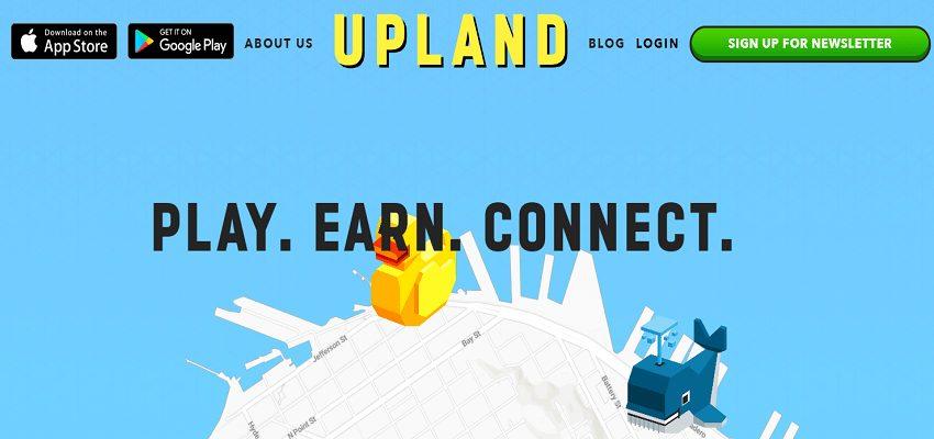 Upland blockchain-based game