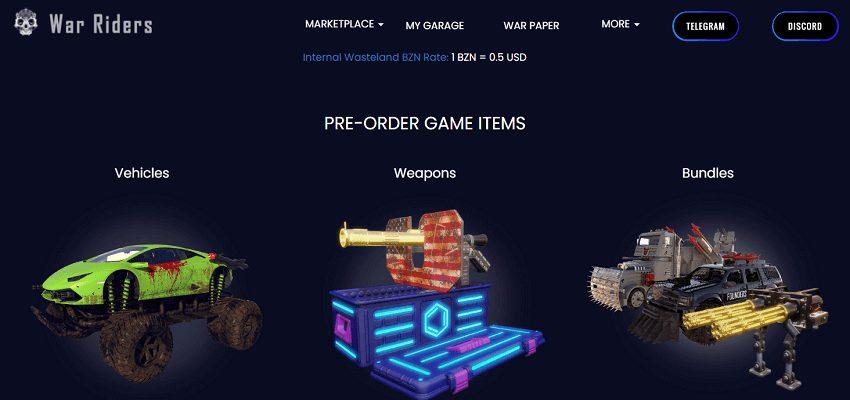 War riders blockchain-based game