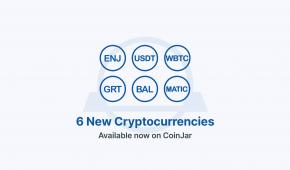 Coinjar Adds 6 New Cryptos: Enj, Matic, Usdt, Bal, Grt, Wbtc