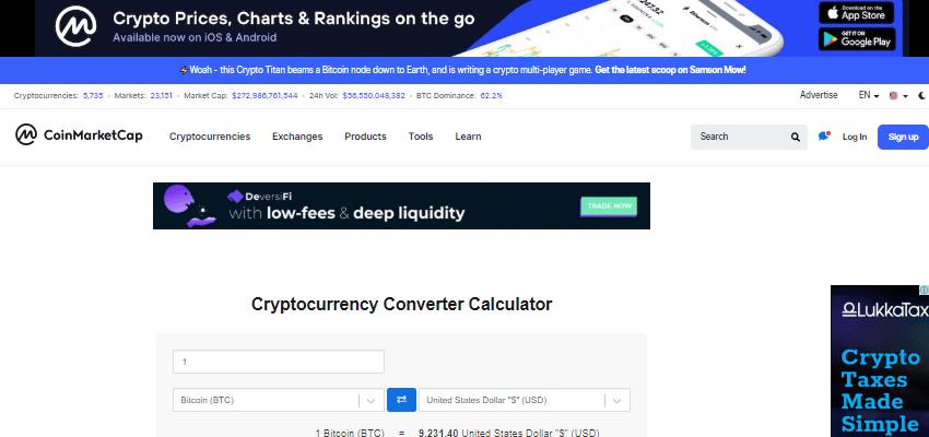 Coinmarketcap crypto tools