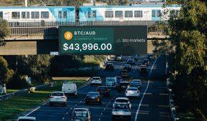 Australia's First Live Crypto Price Ticker Billboard Goes Live